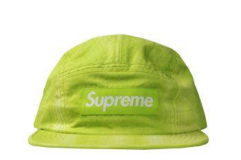 Boné Supreme Camp Cap Tie Dye Rip Stop Volt Yellow