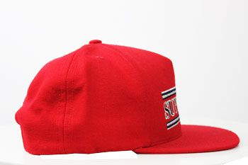 Boné Supreme Striped 5 Panel Red
