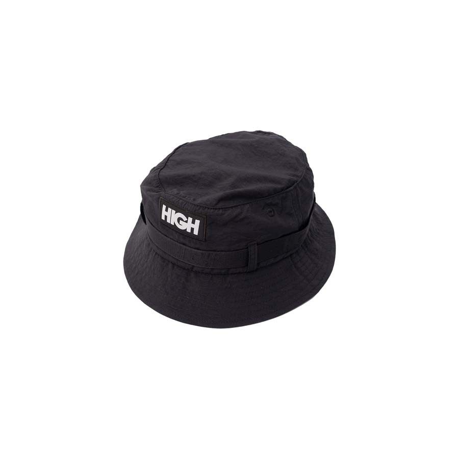Bucket High Strapped Hat Black