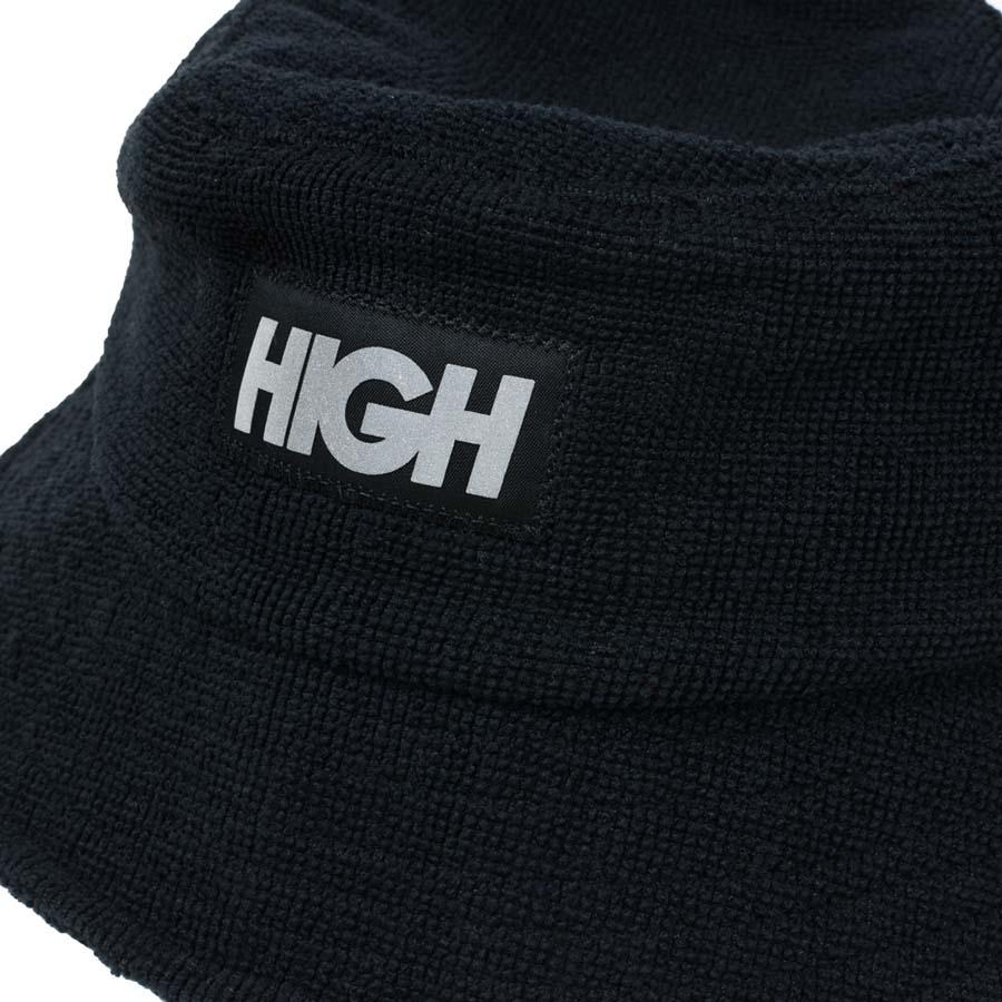 Bucket High Terry Bucket Hat Black
