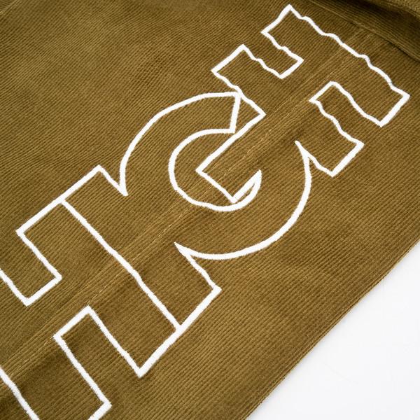 Calça High Corduroy Cargo Pants Olive Green