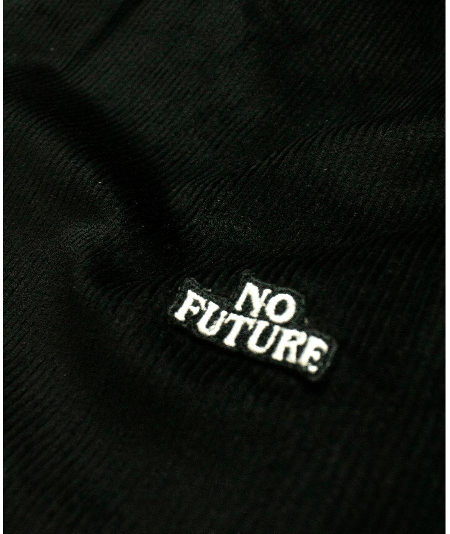 Calça No Future Veludo Cotelê Preta