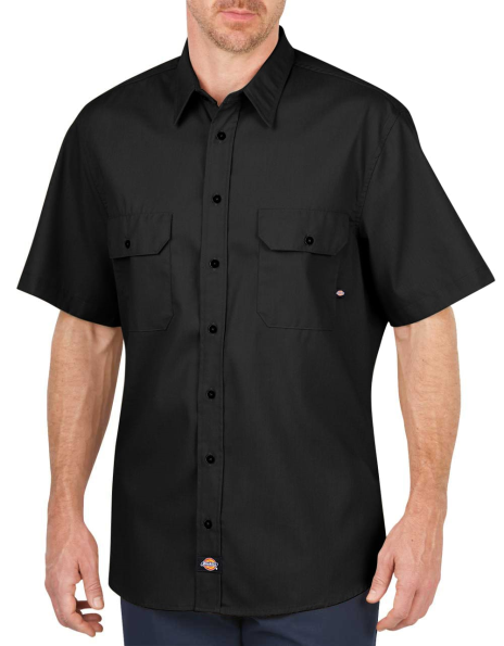 Camisa Dickies Social Manga Curta Preto
