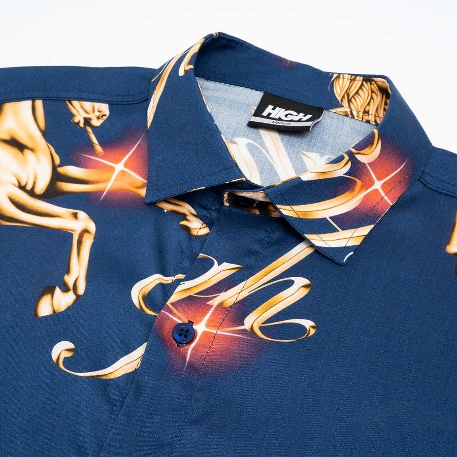 Camisa High Button Shirt Pegasus Navy