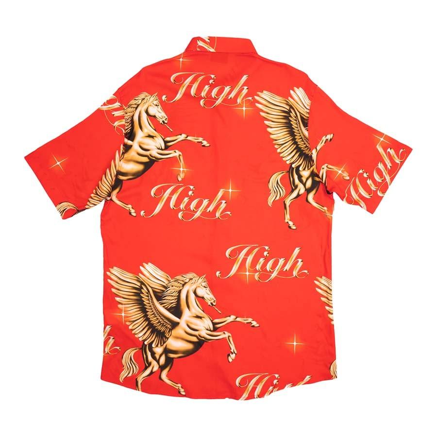 Camisa High Button Shirt Pegasus Red