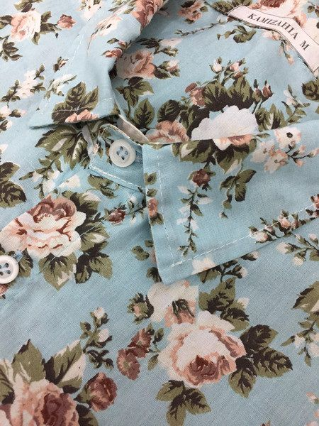 Camisa Kamizahia Blue Flowered