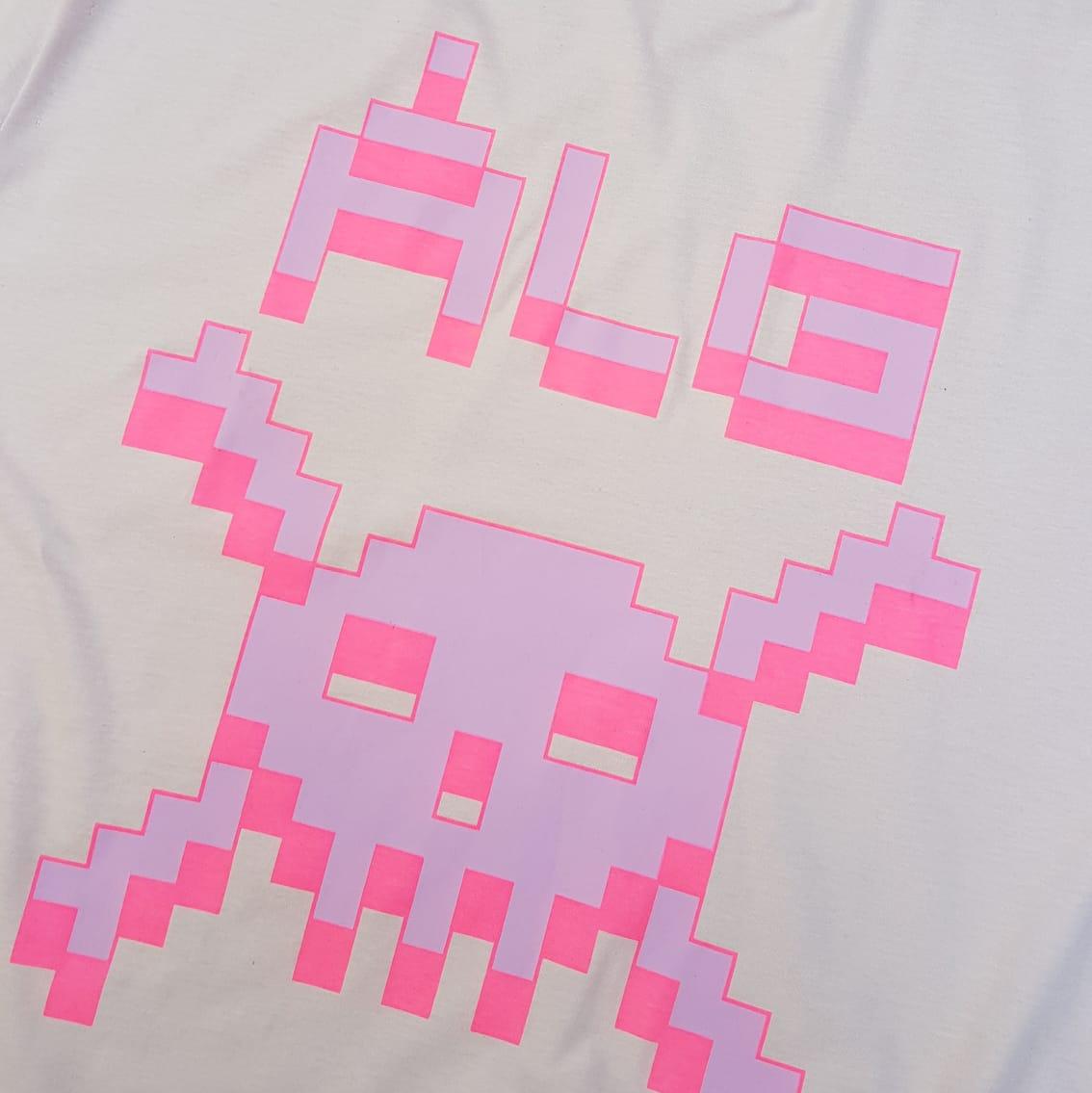 Camiseta ALG Oversized Skull Rosa