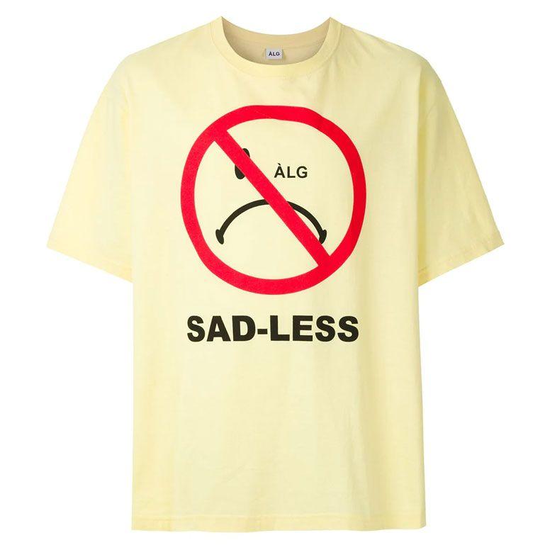 Camiseta ALG Oversized Smiley Amarelo