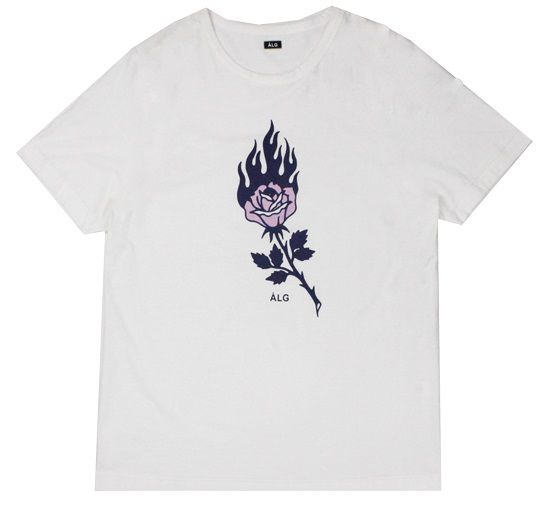 Camiseta ALG Rose Fire White