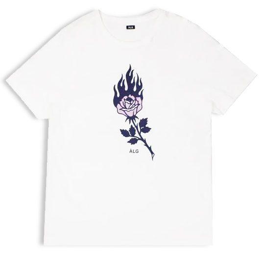 Camiseta ALG Rose Fire White