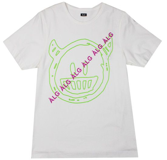 Camiseta ALG Smile White