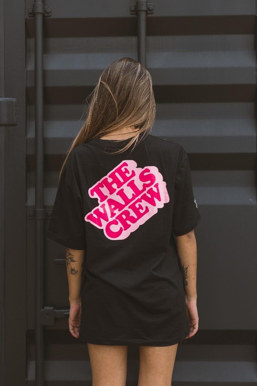 Camiseta WALLS Block Logo Preto
