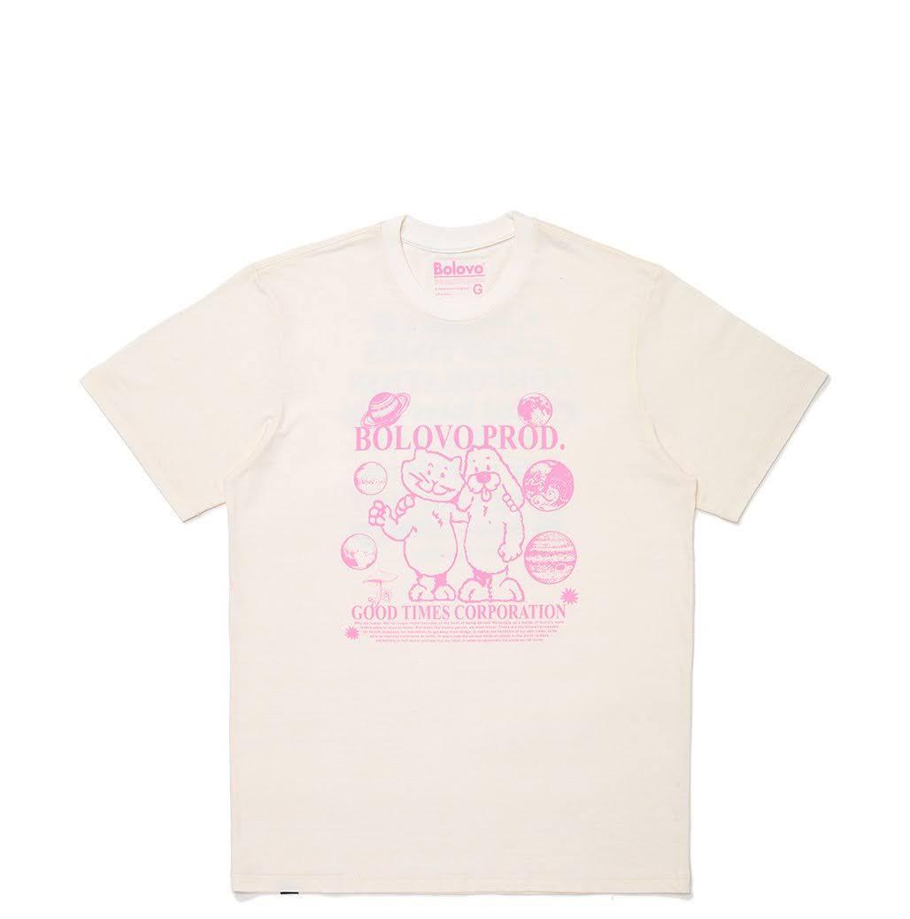 Camiseta Bolovo Bons Amigos Viajam Juntos Off White