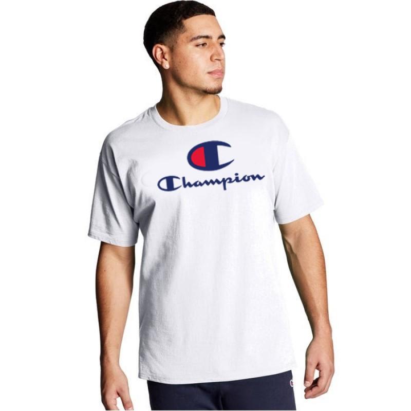 Camiseta Champion Big Logo Script Branca
