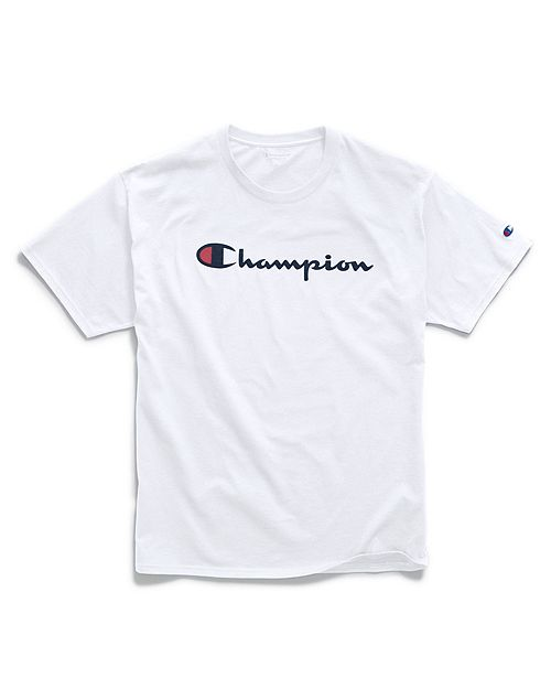 Camiseta Champion Classic Script Logo Branca