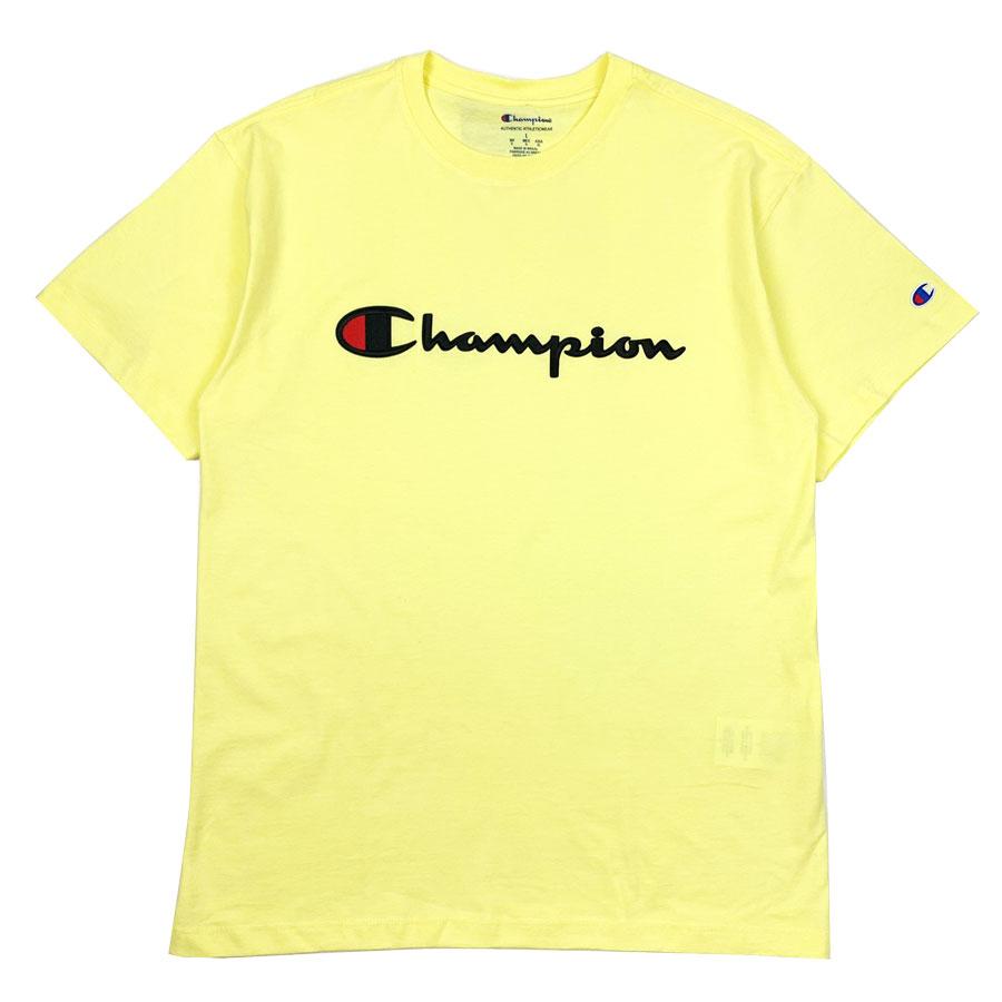 Camiseta Champion Embroidery Logo Script Amarelo