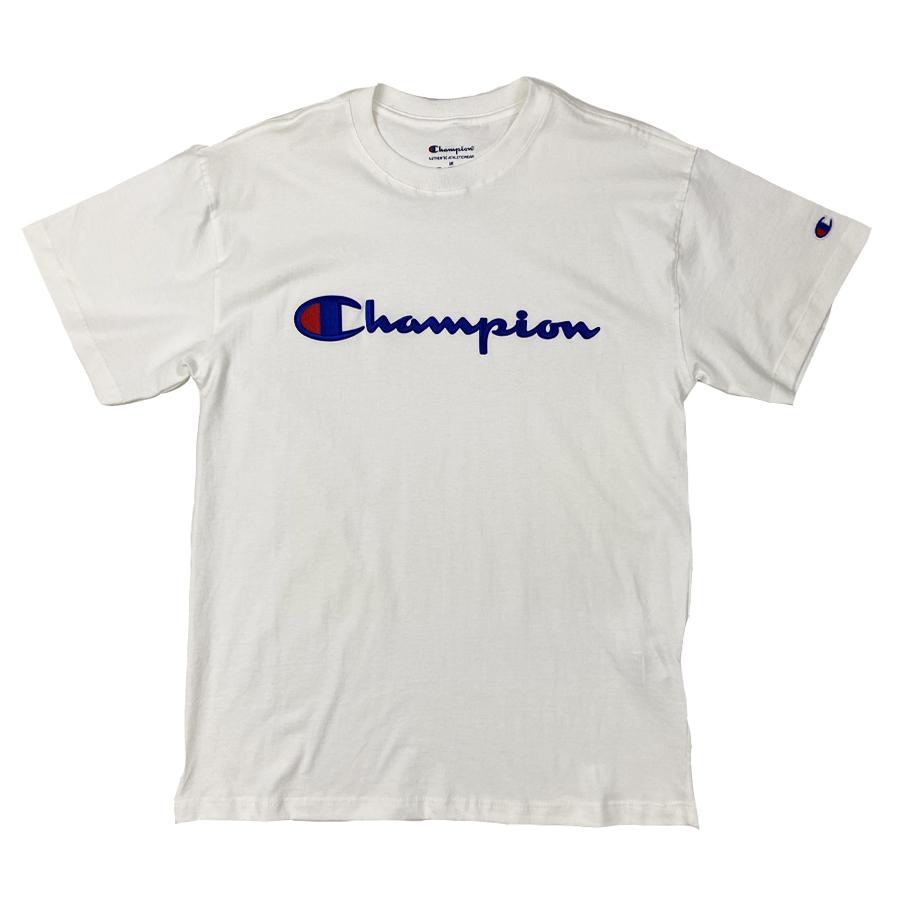 Camiseta Champion Embroidery Logo Script Branco