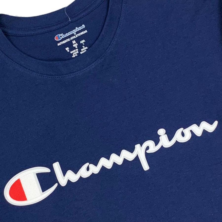 Camiseta Champion Embroidery Logo Script Marinho
