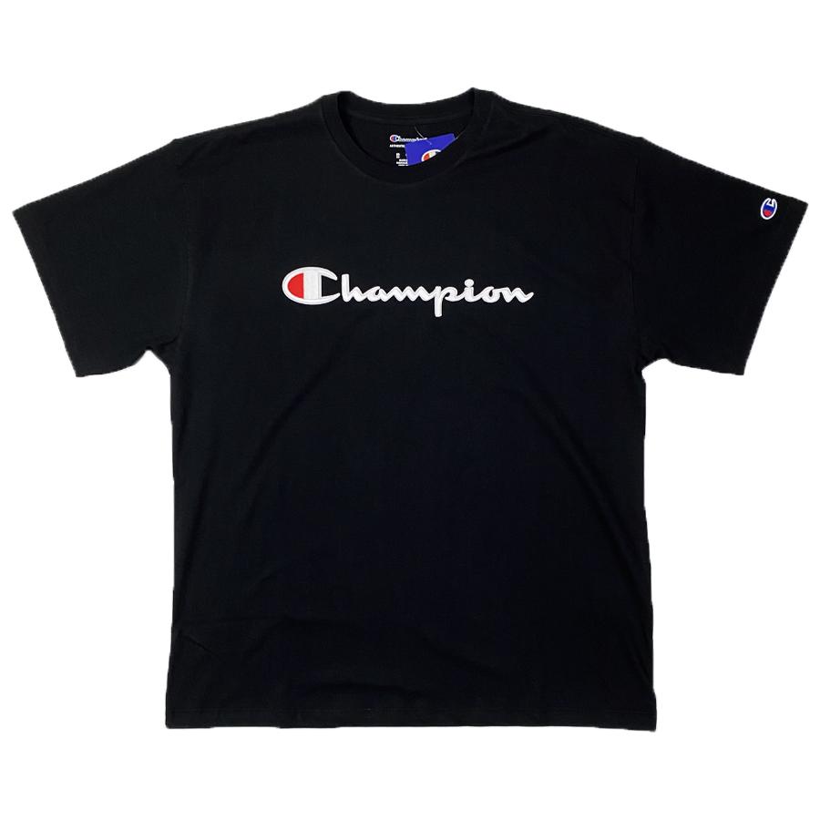 Camiseta Champion Embroidery Logo Script Preto