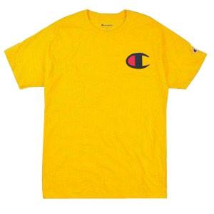 Camiseta Champion Logo C Amarelo Gold