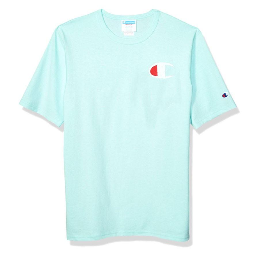 Camiseta Champion Logo C Verde Menta