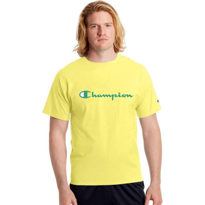 Camiseta Champion Logo Script Amarelo Journey