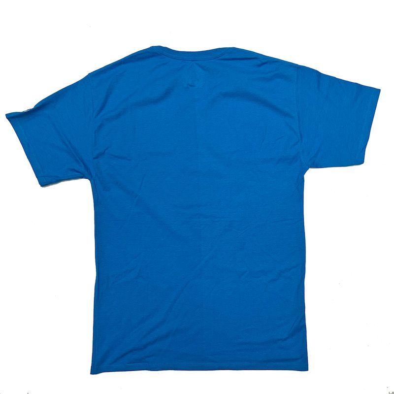 Camiseta Champion Logo Script Azul Water