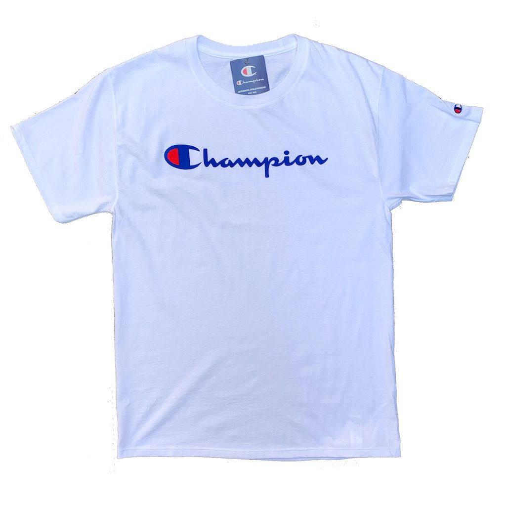 Camiseta Champion Logo Script Branco