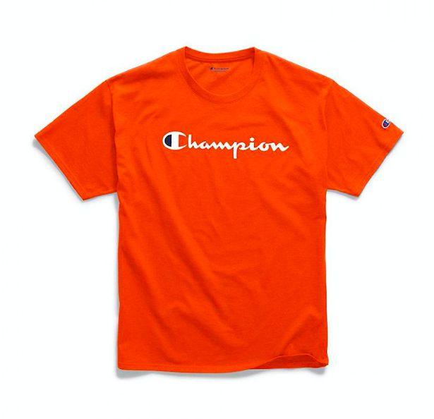 Camiseta Champion Logo Script Laranja