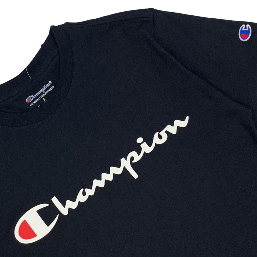 Camiseta Champion Logo Script Preto