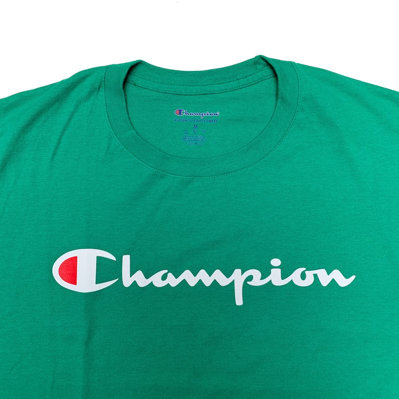 Camiseta Champion Logo Script Verde