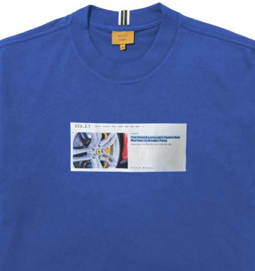 Camiseta Class Fake Ferrari Azul