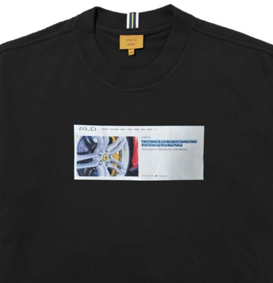 Camiseta Class Fake Ferrari Preta