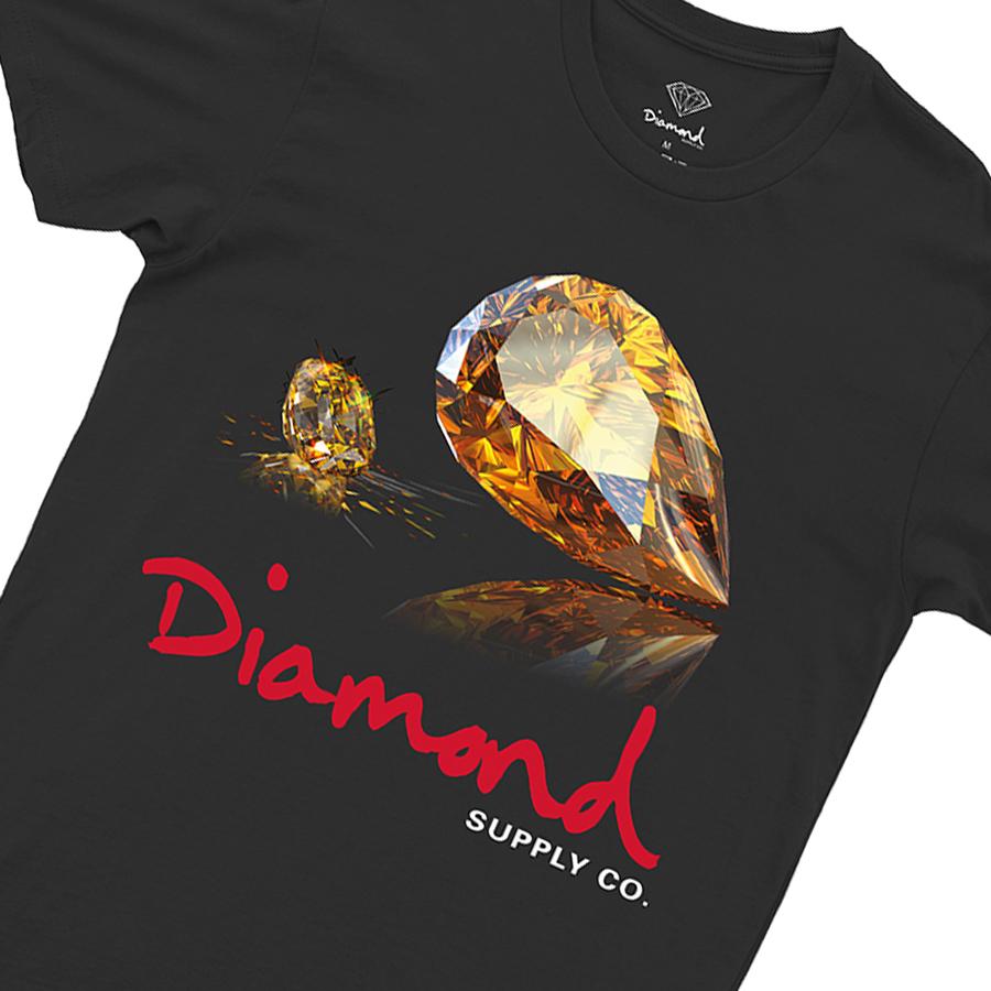 Camiseta Diamond Mirror Tee Black
