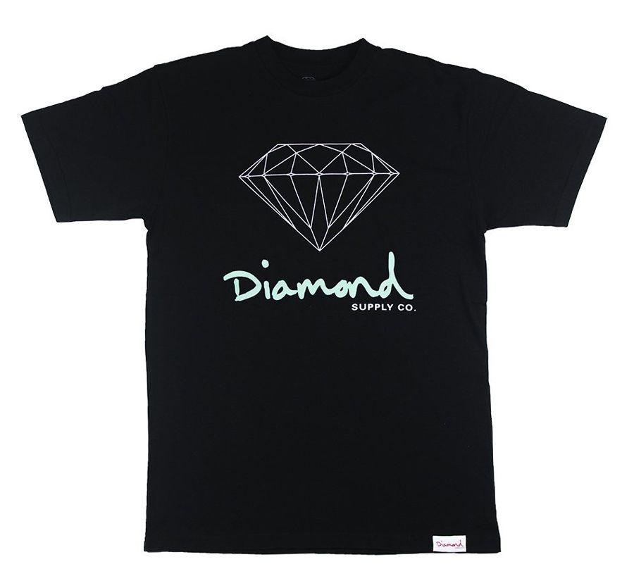 Camiseta Diamond OG Sign Tee Black