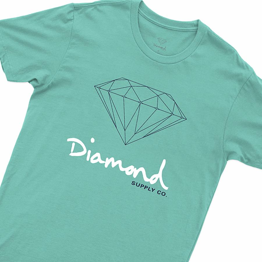 Camiseta Diamond OG SIGN Tiffany Blue