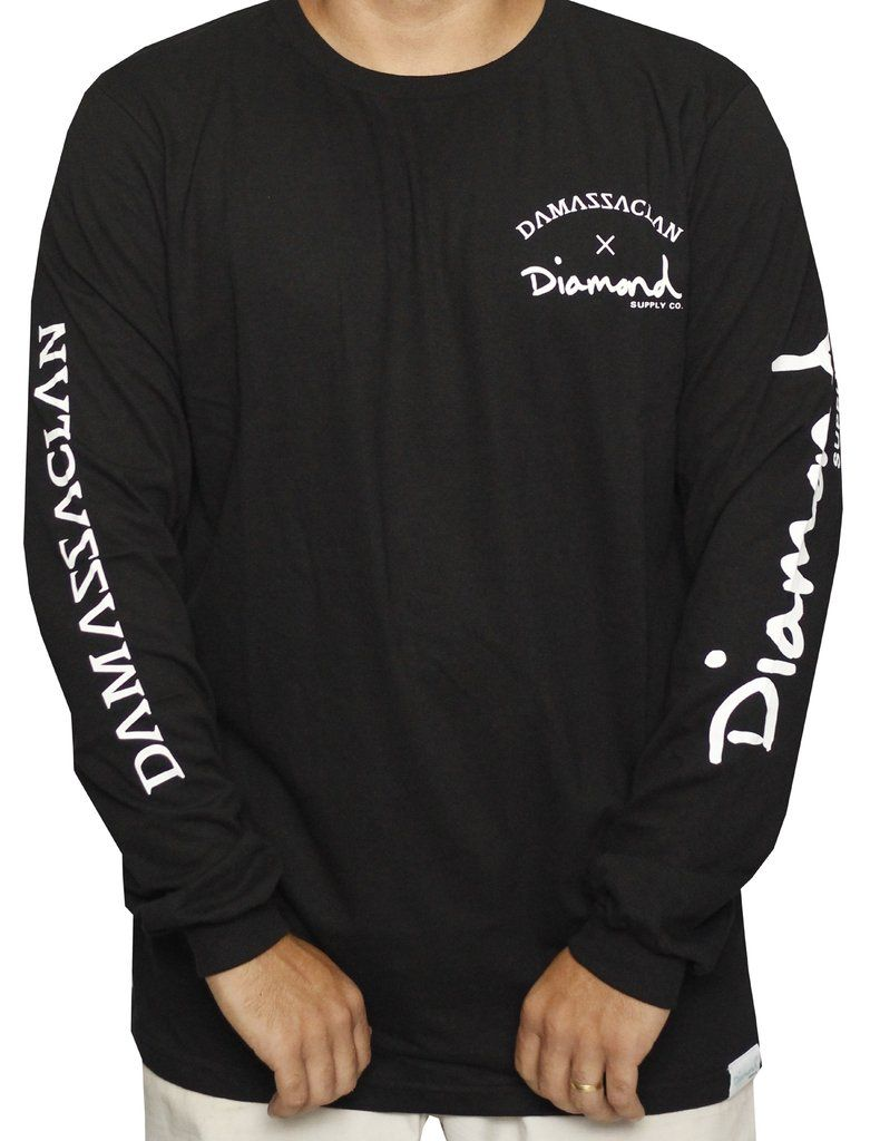 Camiseta Diamond X Damassa Longsleeve Black