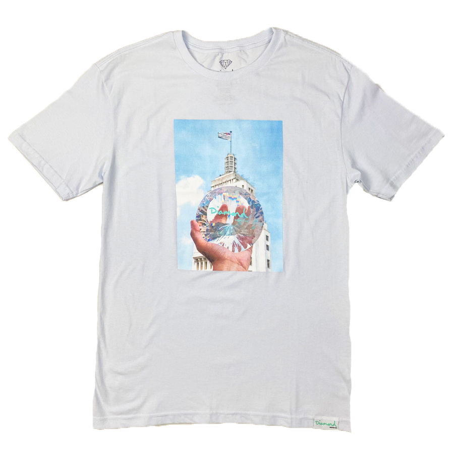 Camiseta Diamond x Willkhalifaman DMND CITY Branco