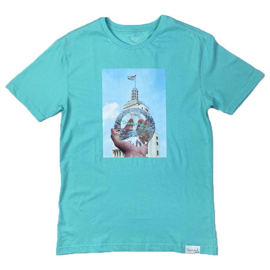 Camiseta Diamond x Willkhalifaman DMND CITY Tiffany Blue