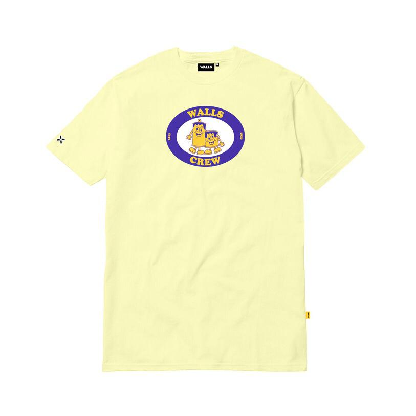 Camiseta WALLS Friends Amarelo Canário