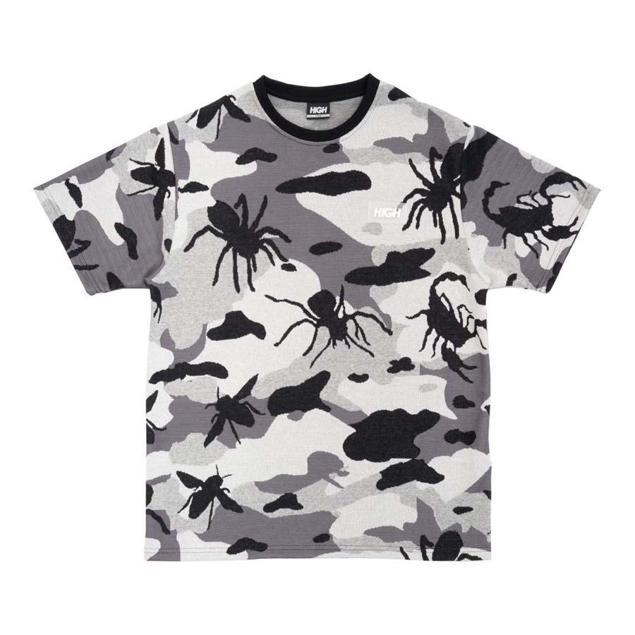 Camiseta High Jacquard Tee Bug Camo Black