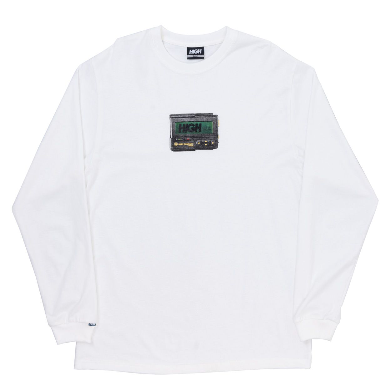 Camiseta High Longsleeve Beeper White