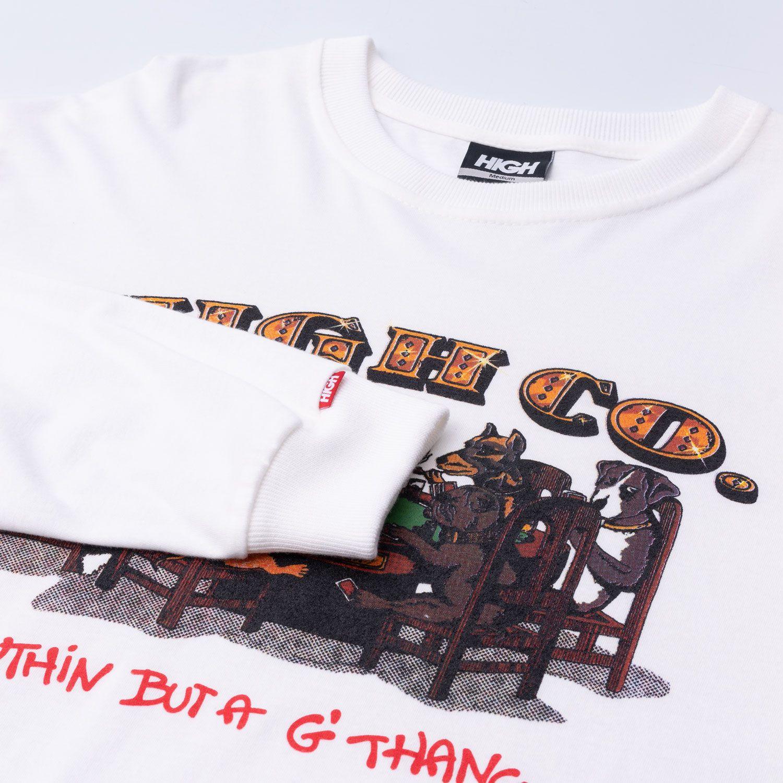 Camiseta High Longsleeve Dogz White