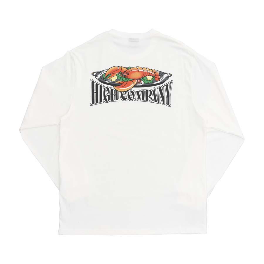 Camiseta High Longsleeve Lobster White