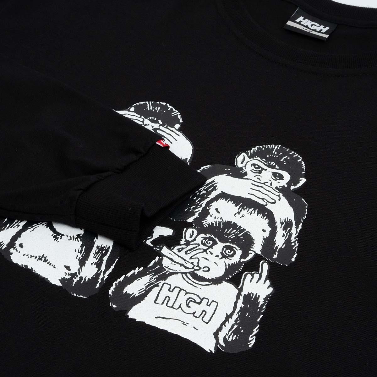 Camiseta High Longsleeve Monkeys Black