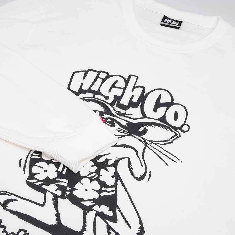 Camiseta High Longsleeve Rat White