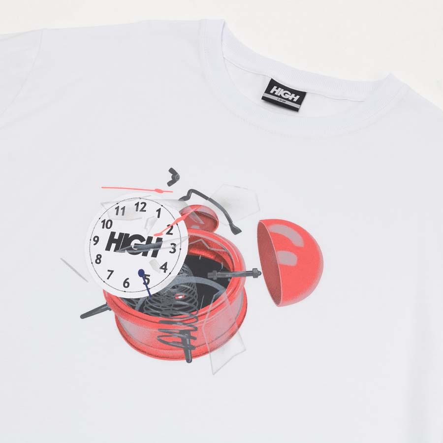 Camiseta High Tee Clock White