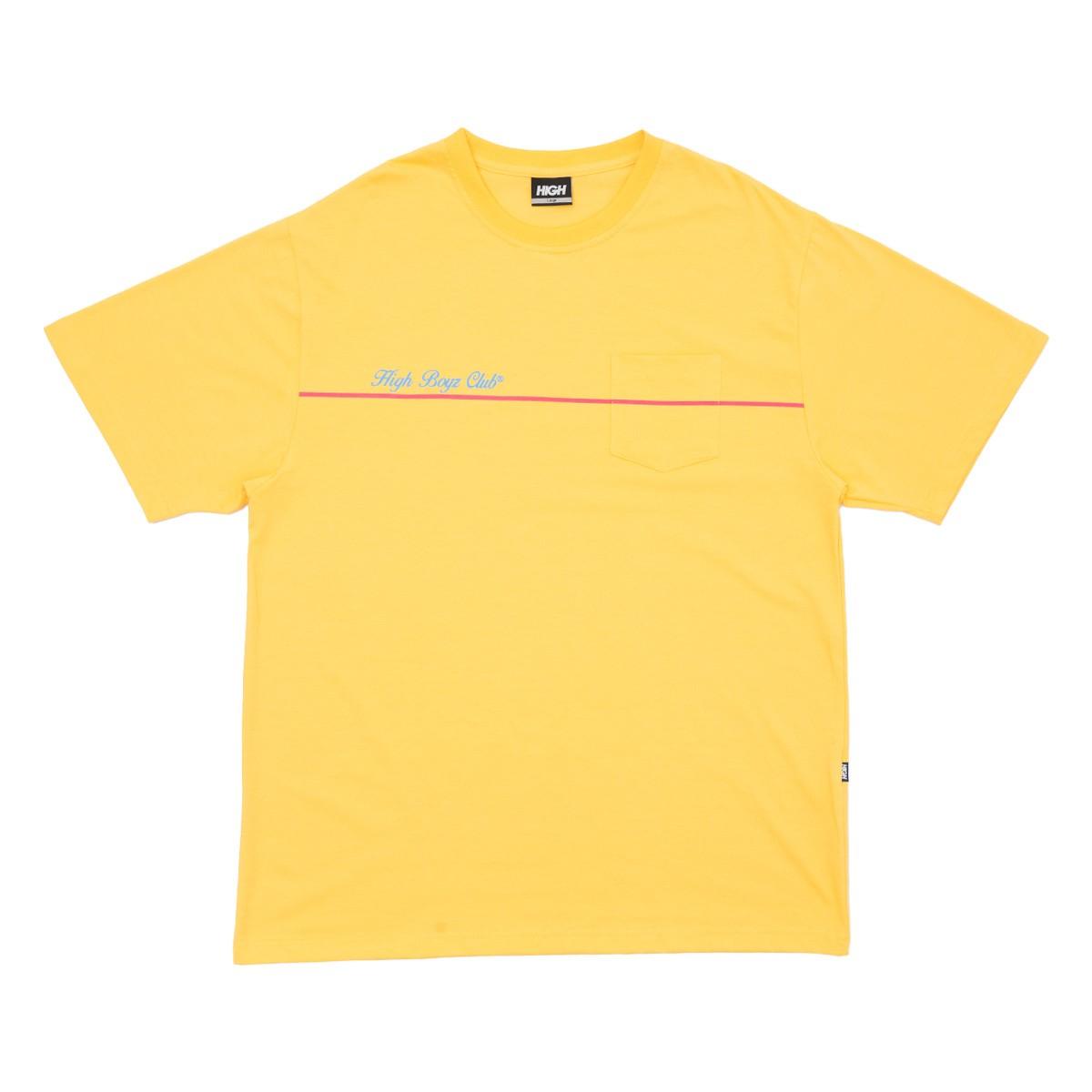 Camiseta High Tee Club Pocket Yellow