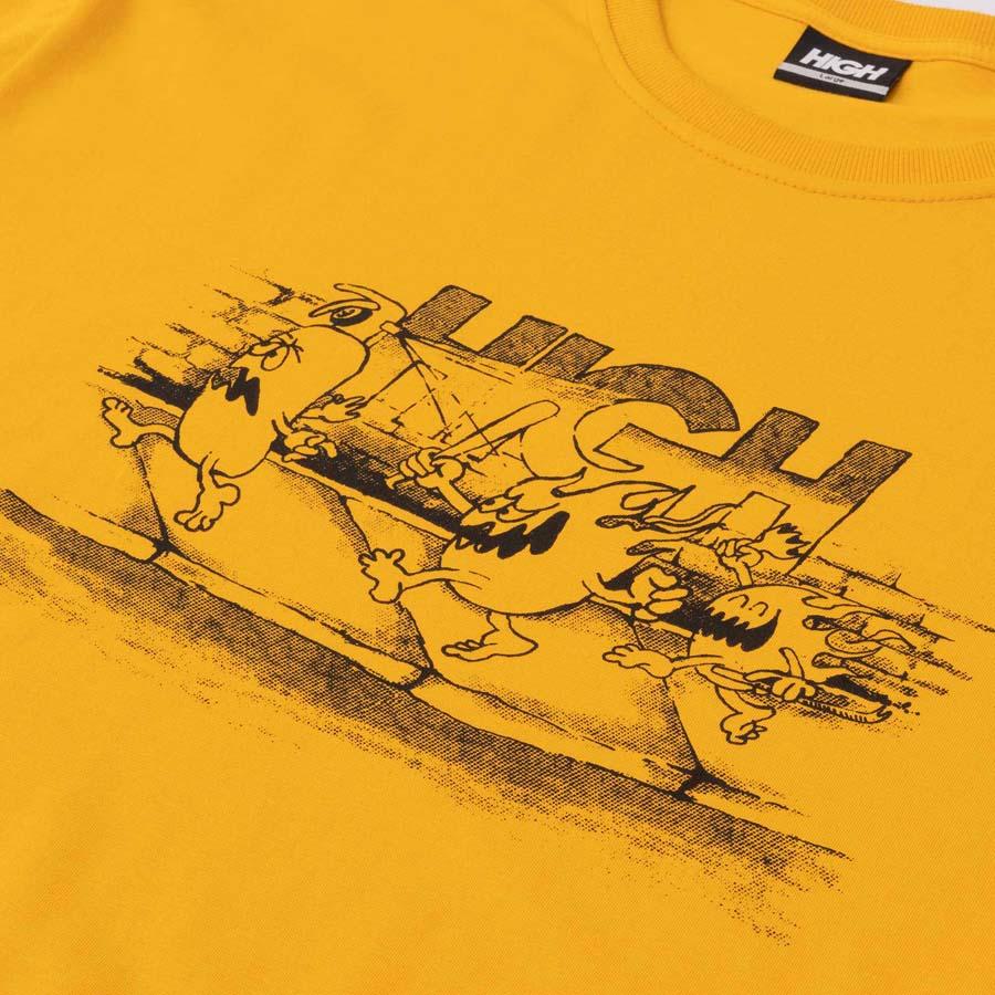 Camiseta High Tee Fyah Gang Yellow