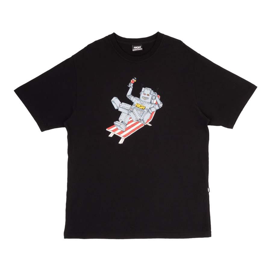 Camiseta High Tee Robot Black